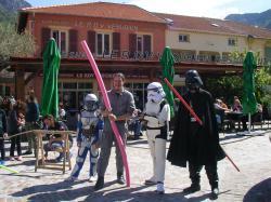 cosplay au stand sabre laser